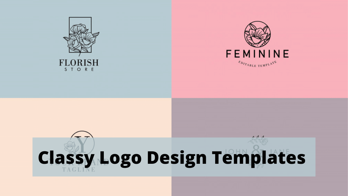 Some Classy Logo Design Templates You Can Look Up To